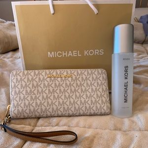 Michael kors large wallet and leather cleaner